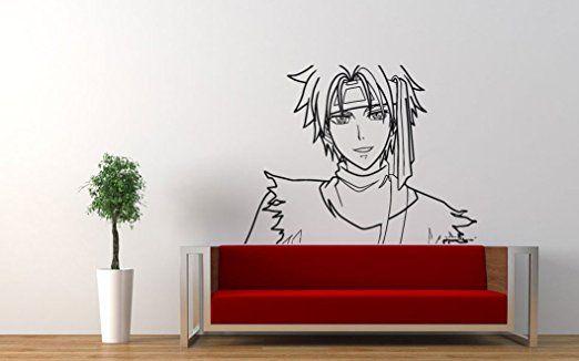 wall vinyl sticker decals mural room design pattern anime guy japanese movie hero bo605 - Wall Vinyl Designs