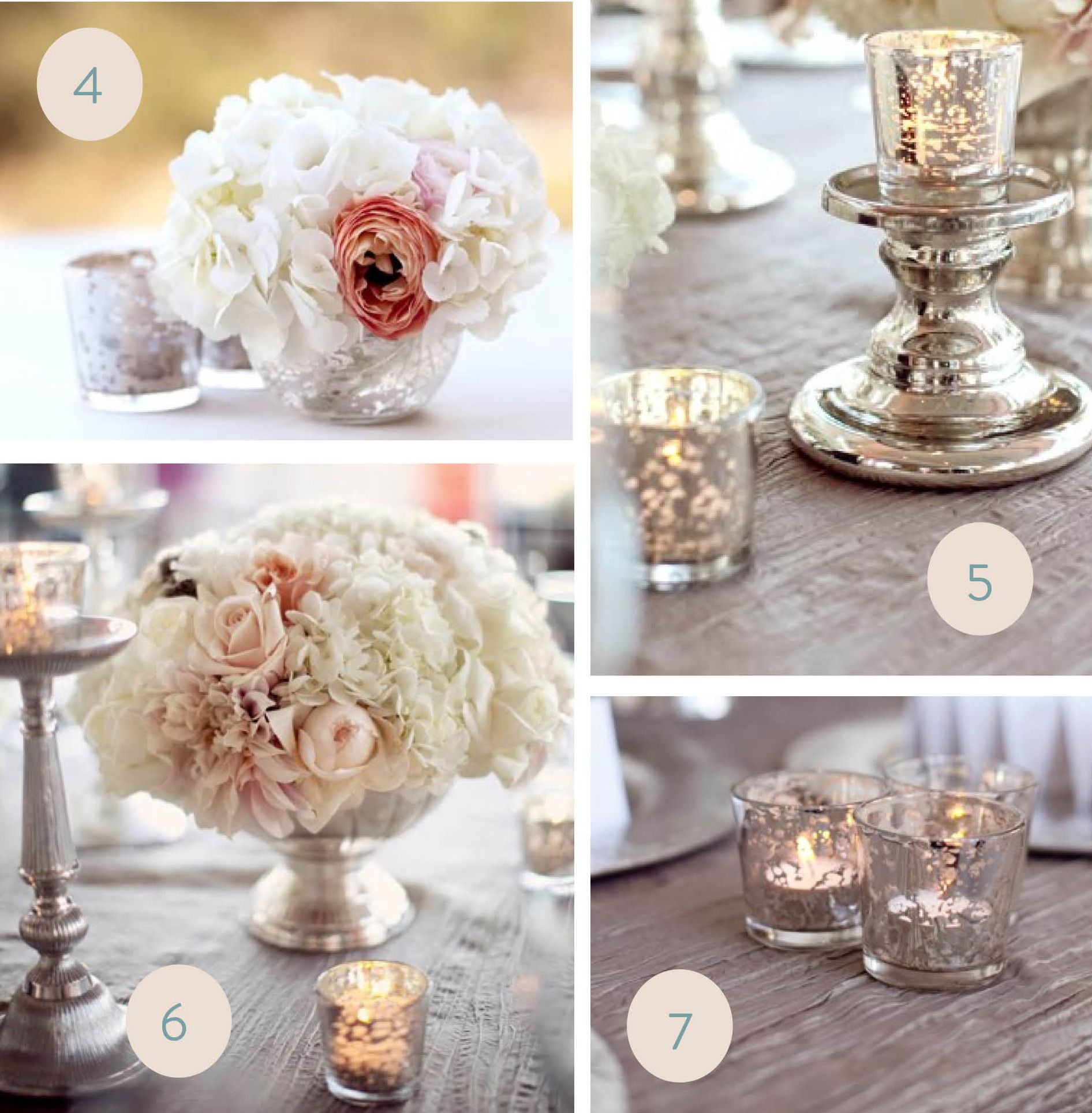 mercury glass - vases, candles | The Wedding Shoebox | Pinterest ...