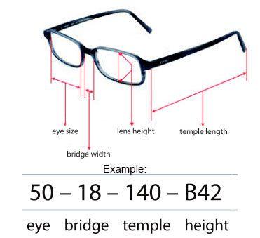 Eyeglasses Frame Sizing Eyeglasses Frames Glasses Frames Online Glasses Frames
