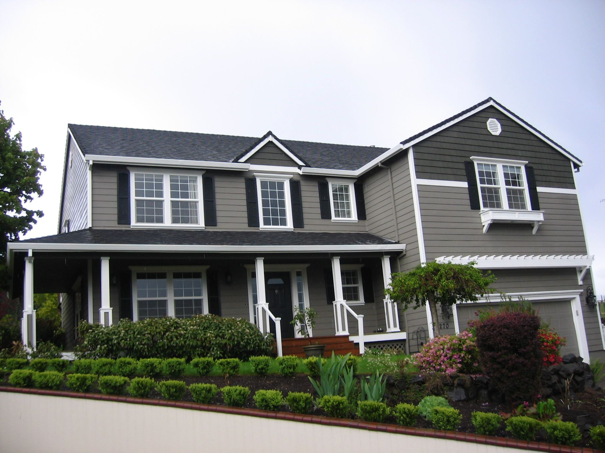 Representation Of Attractive Houses With Shutters That