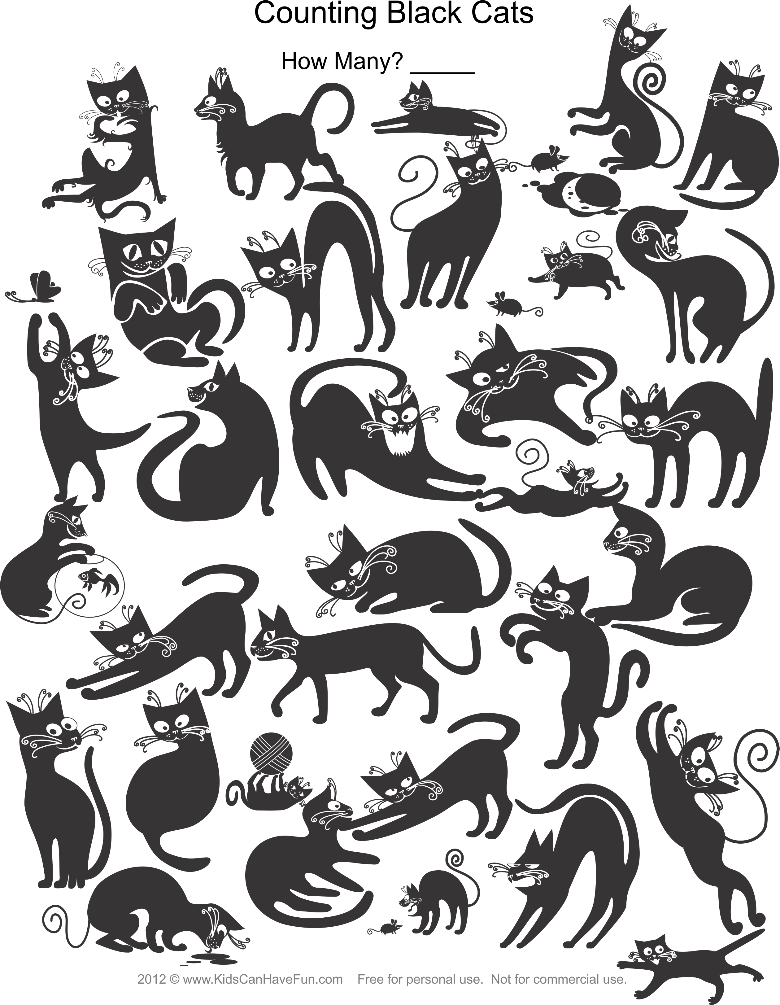 Counting Black Cats Worksheet Dscanhavefun