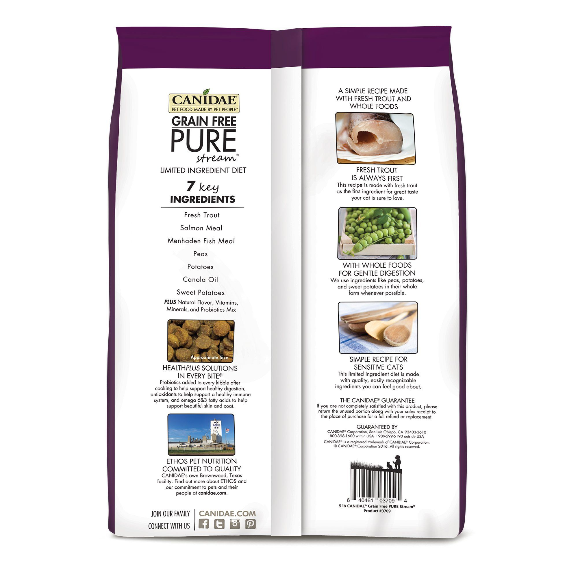 Canidae Grain Free Pure Stream Cat Dry Formula With Trout 2 5 Lbs Dry Cat Food Grain Free Trout Recipes