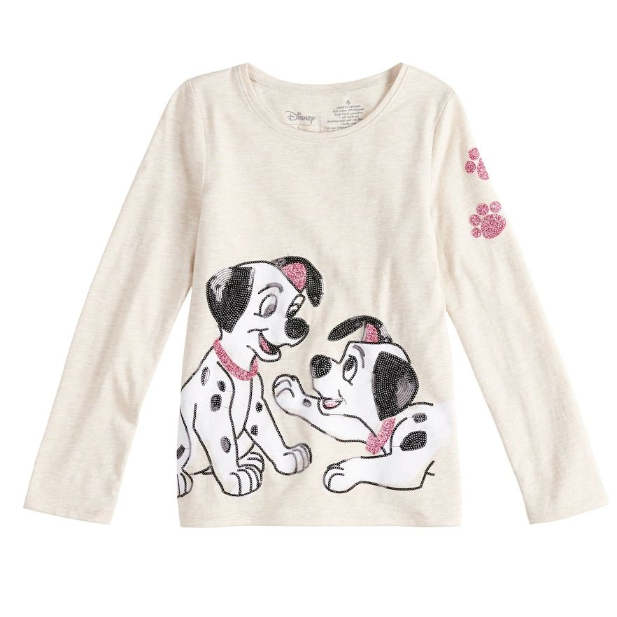 2465dce4 Disney's 101 Dalmatians Toddler Girl Long-Sleeve Sequined Graphic Tee by  Jumping Beans®, Size: 4T, Med Beige