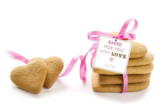 """""""Made for You with Love"""" valentine's day tags; homemade Valentine gift tags"""
