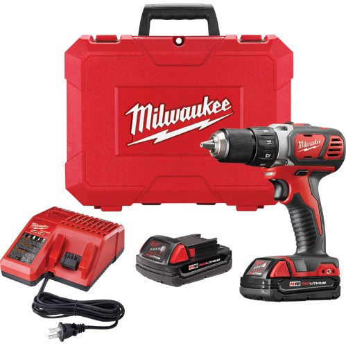 Milwaukee 18v Compact Drill Two Speeds Comes With Two 2