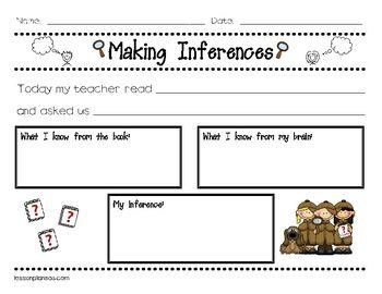 Inference Worksheets 1St Grade