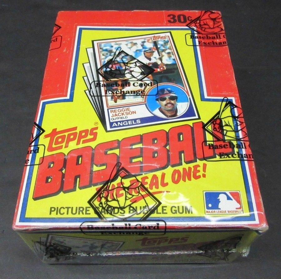 1983 topps baseball unopened wax box bbce wrapped