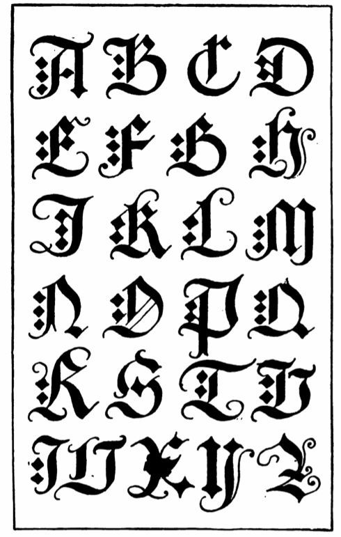 Image result for old english font lettering pinterest