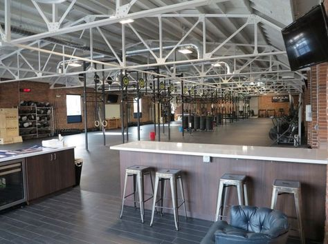 industrial gym cafe fit out ideas  google search  gym