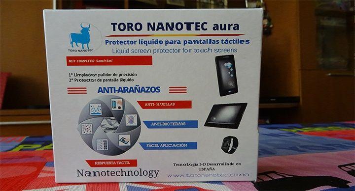Hablamos del protector líquido para pantallas táctiles aura de la empresa Toro Nanotec,   www.toronanotec.com
