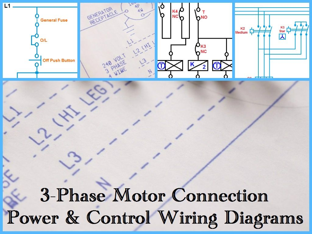 Three Phase Motor Power & Control Wiring Diagrams | villamos dolgok on ac motor speed control schematic, 3 phase control schematic, starter schematic, 3 phase diagram, 3 phase generator schematic, rectifier schematic, transformer schematic, phase converter schematic, reversing motor schematic, 3 phase capacitor, 3 wire switch schematic,