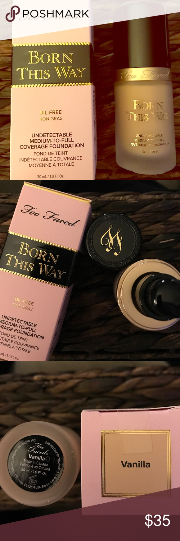 Final Price Too Faced Born This WayVanilla Authentic