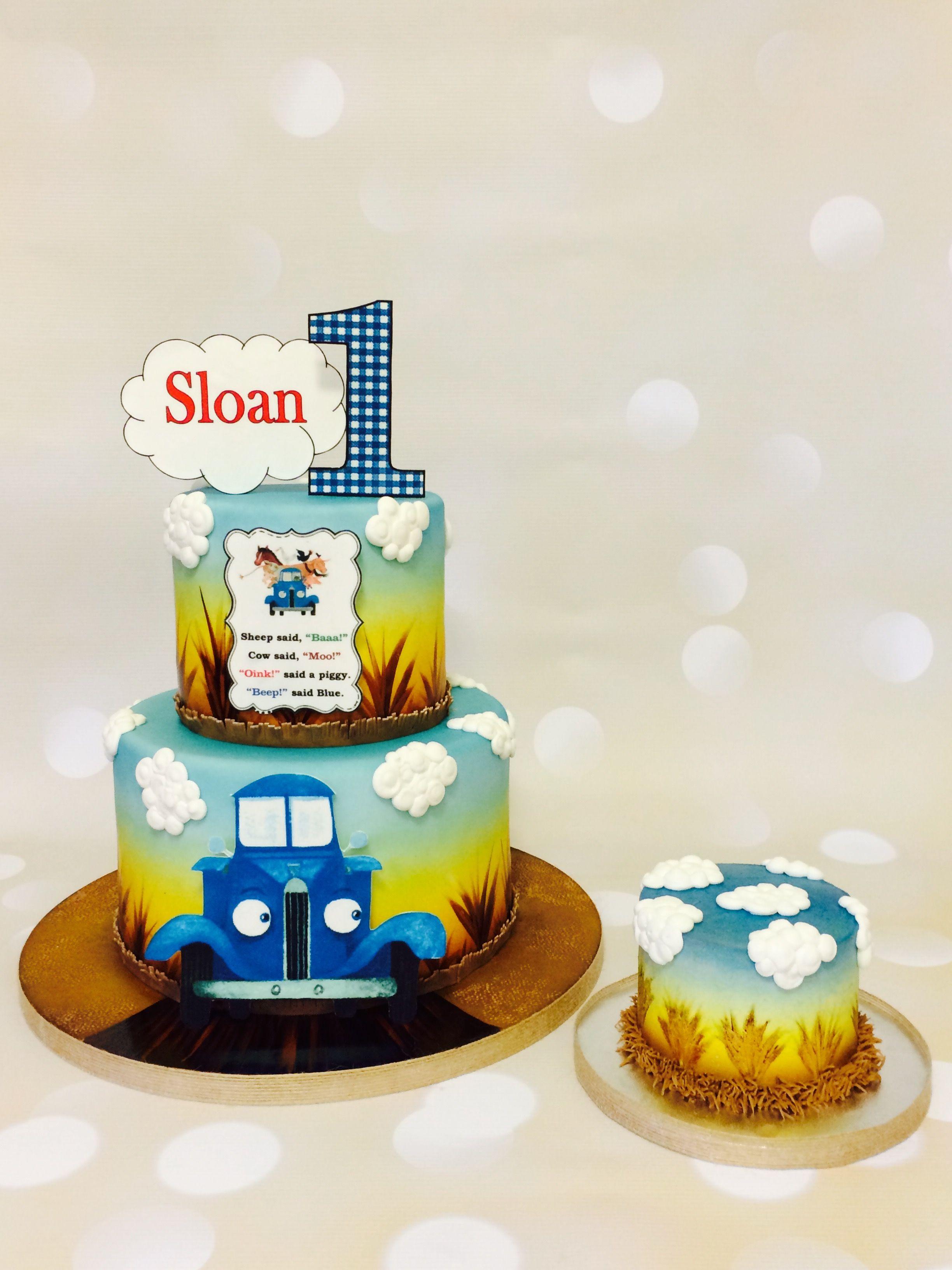 Little Blue Truck Truck Birthday Cakes Birthday Party Cake