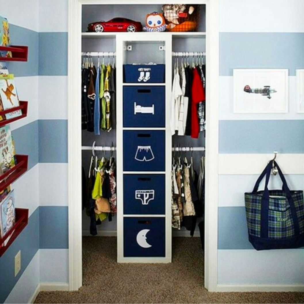 Small House Storage Ideas And Hacks How To Organize A Small House With No Storage Kids Room Organization Boys Kids Closet Organization Kids Room Organization