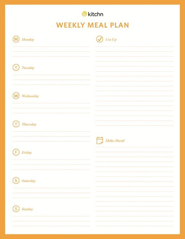 Download Our Free Weekly Meal Plan Template  Meal Plan Templates