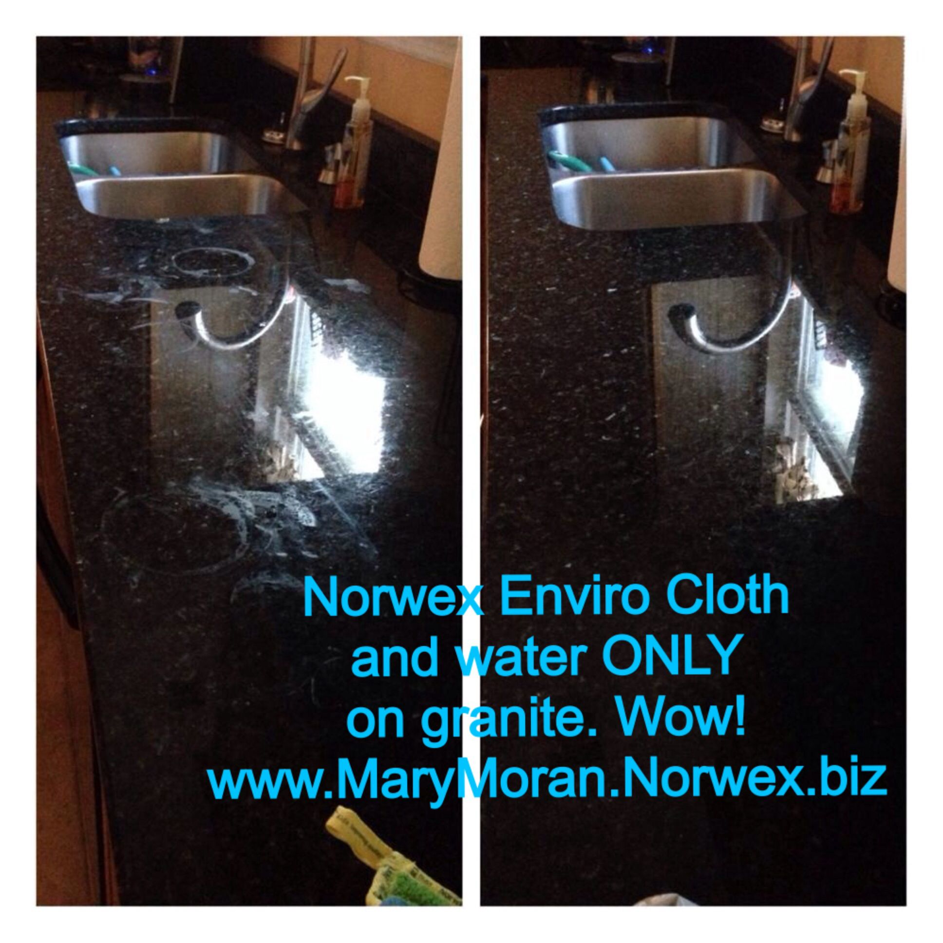 The Enviro Cloth On Granitewow Wwwmarymorannorwexbiz