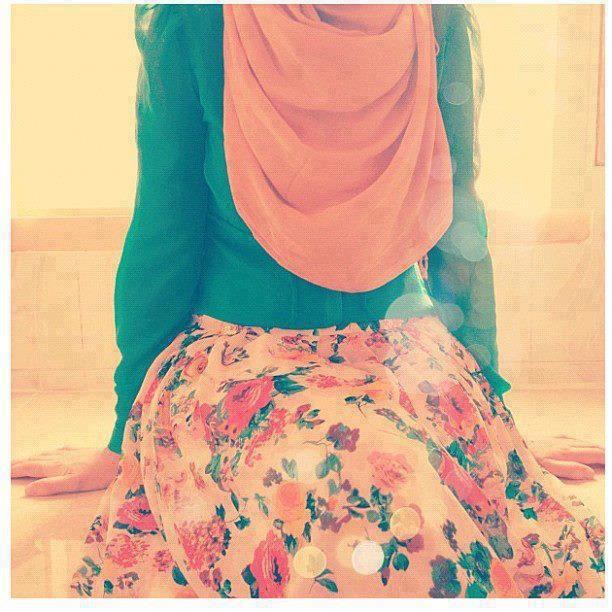 Color blocking muslimah dress