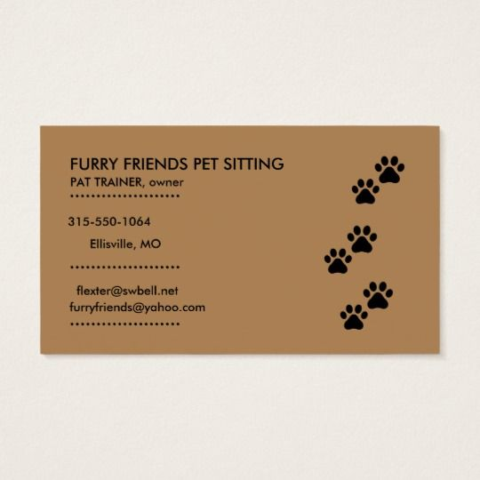Pet Sitting Dog Bones And Paws Business Card Zazzle Com Business Cards Pets Dog Bones Pet Sitting