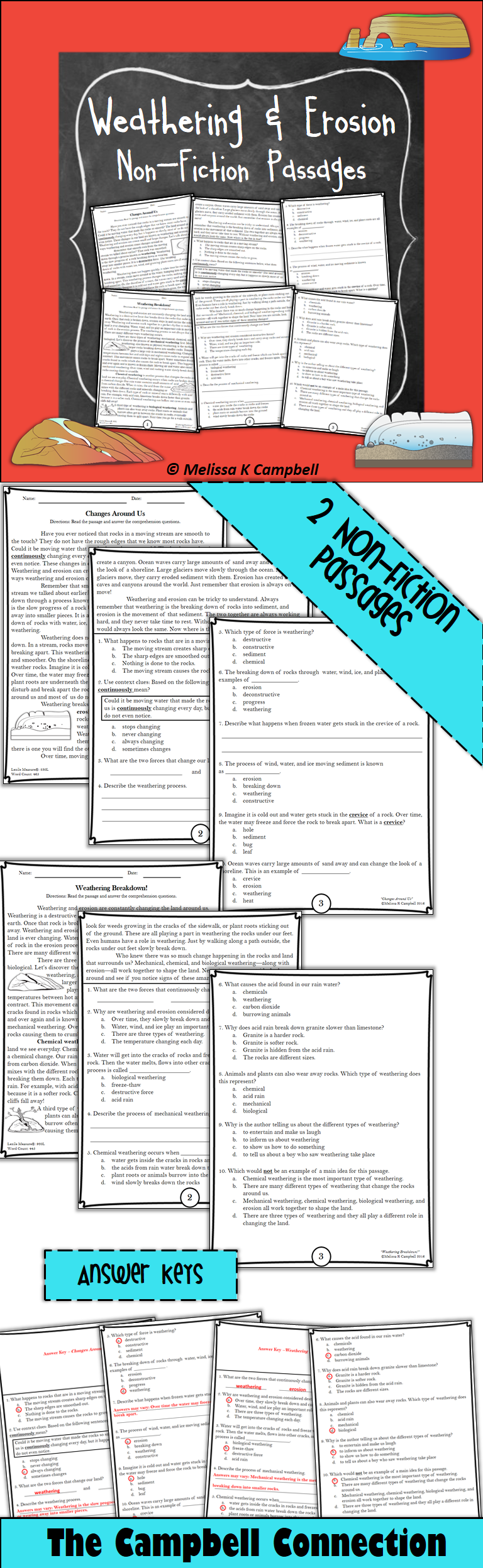 Literacy And Science Earth Science Lessons Elementary Earth Science Nonfiction Passages [ 2496 x 768 Pixel ]