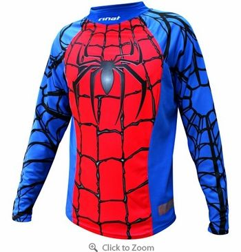 1e41fcdf49 Become a super hero with this Rinat Widow Maker Spiderman Soccer Goalie  Jersey! Features breathable mesh polyester fabric! - 39.99