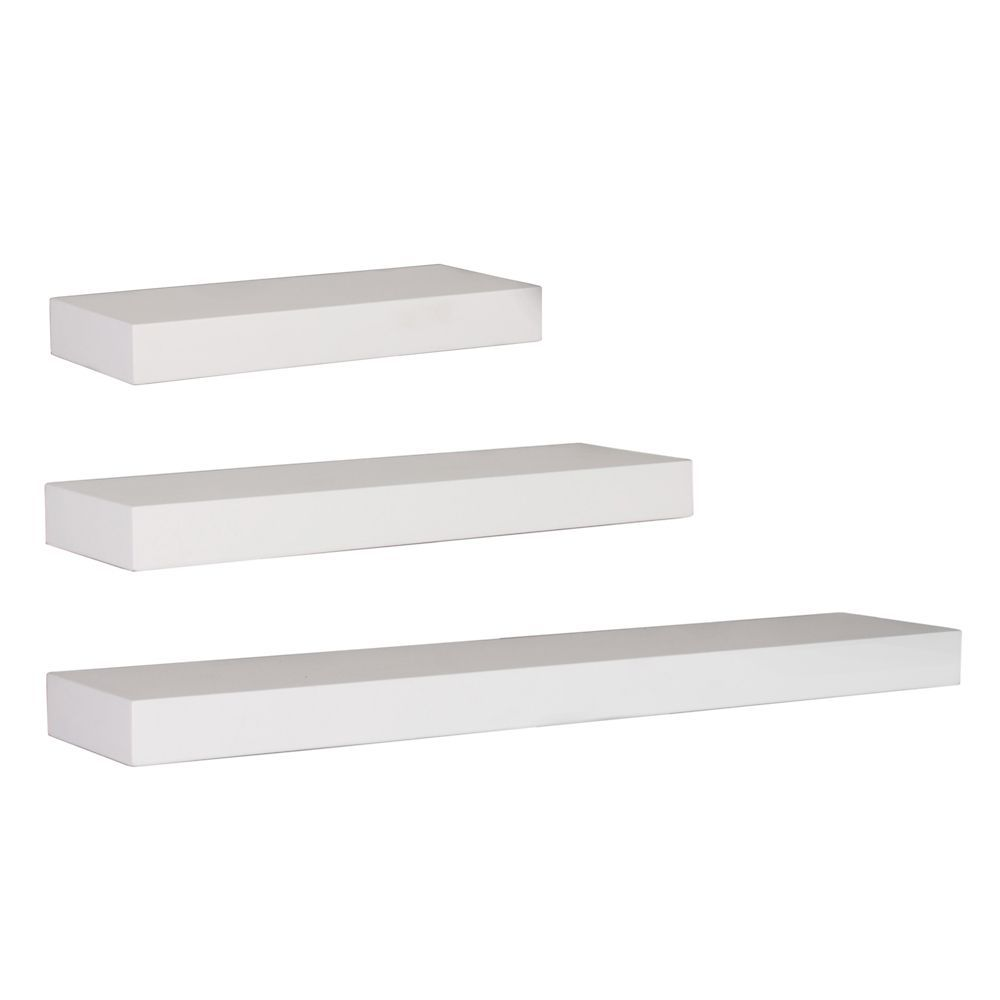 Maine Wall Shelf 12 Inch 16 Inch 24 Inch White Set Of 3 Wall Shelves Wall Shelf Decor Floating Shelves