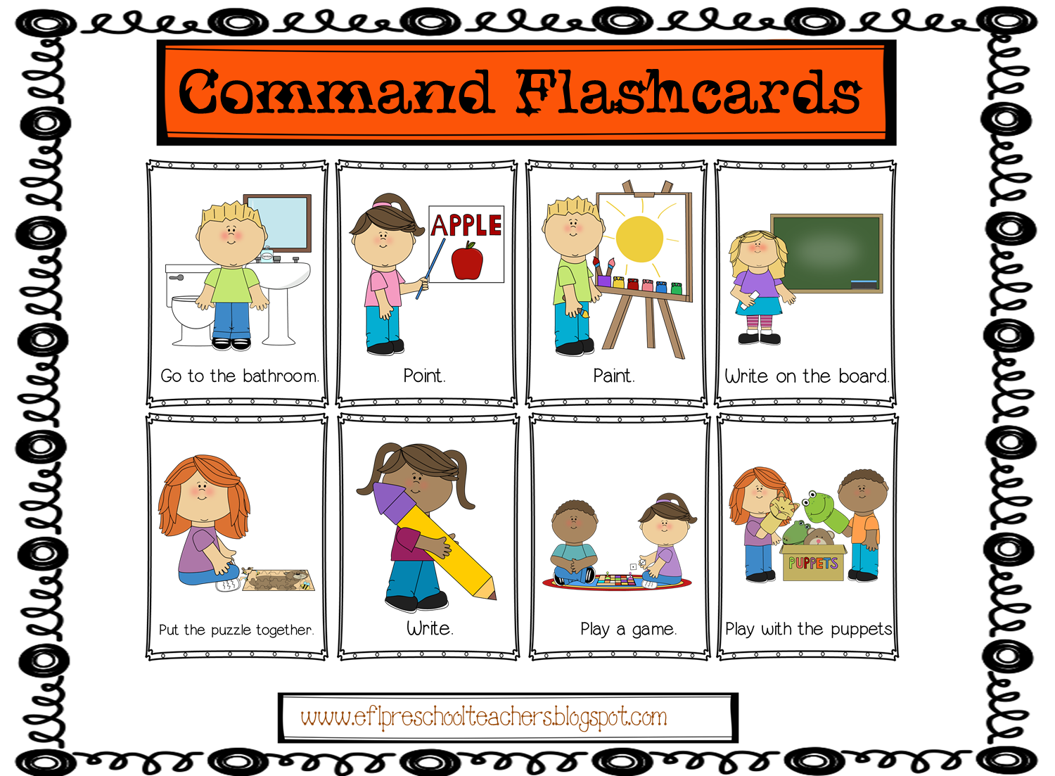 Esl Classroom Commands Flashcards