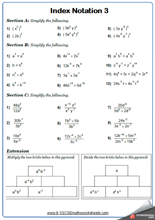 Pin von 9-1 GCSE Maths Worksheets auf GCSE Maths Worksheets and ...