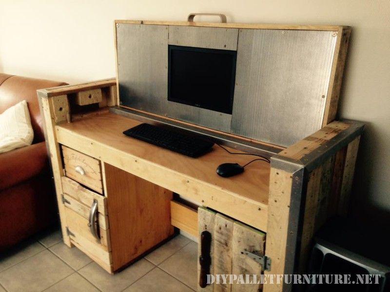 Bureau pliable avec un PC Bureau pliable PC et Bureau