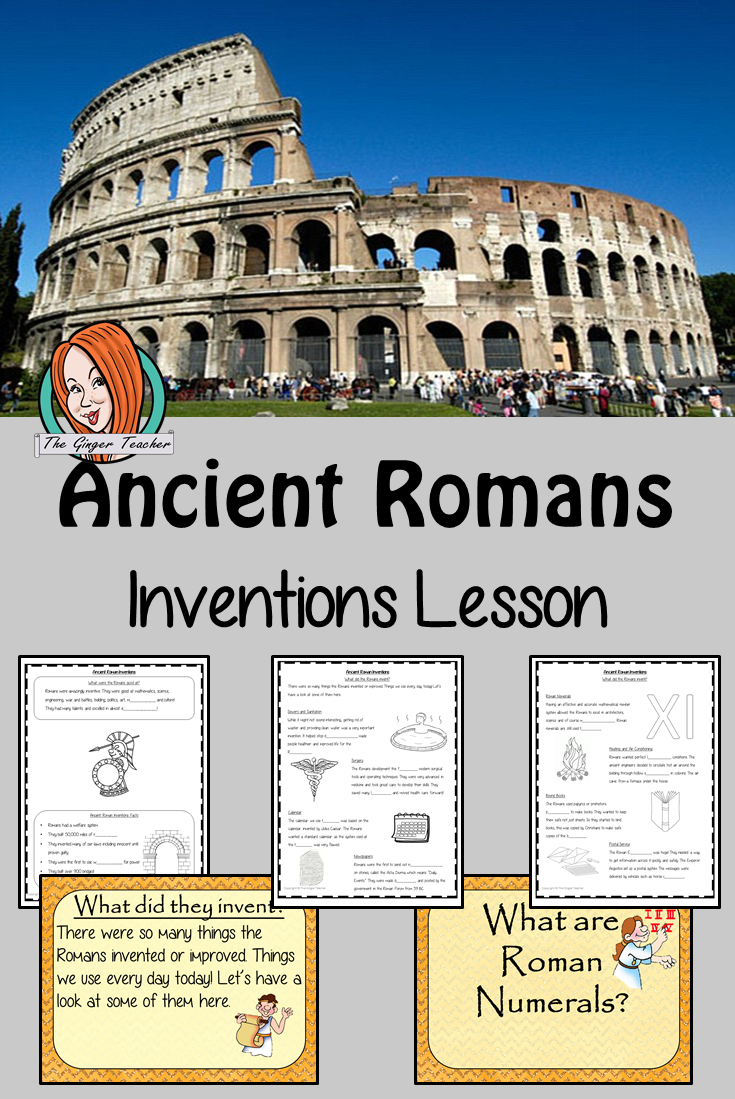 Ancient Romans Inventions Complete History Lesson Teach children about Ancient  Romans and their inventions…   History lessons [ 1099 x 735 Pixel ]