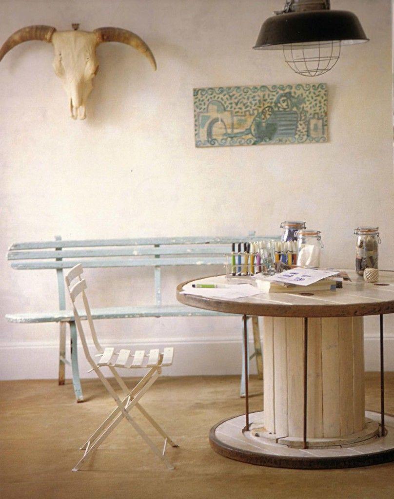 Industrial cola tabla | Deco inspiration | Pinterest | Cable, Mesas ...