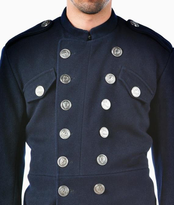 Photo of 1960's REDESIGNED/ REVAMPED British Fireman's MILITARY Style Vintage Wool Jacket / Tunic by Top Rank