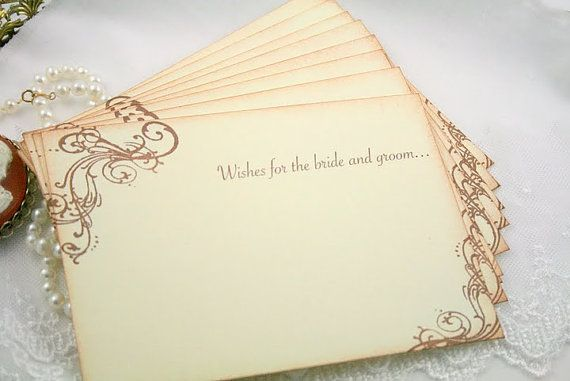 Guest Book Alternative Wedding Wish Cards By Onthewingspaperie