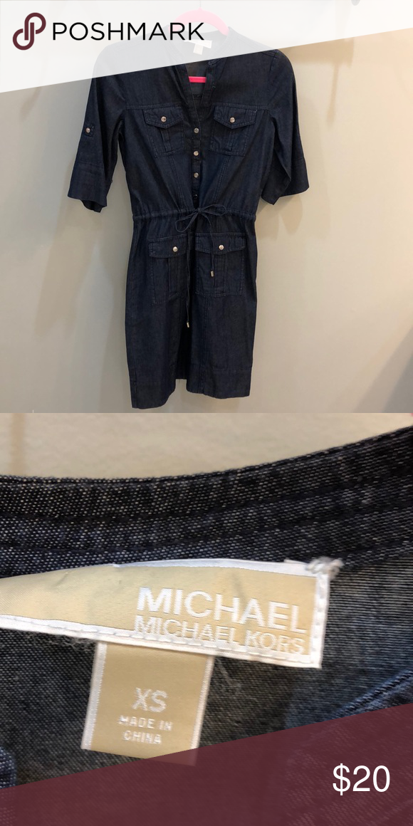 abfd4ae433e Spotted while shopping on Poshmark  Micheal Kors denim dress!  poshmark   fashion  shopping  style  MICHAEL Michael Kors  Dresses   Skirts