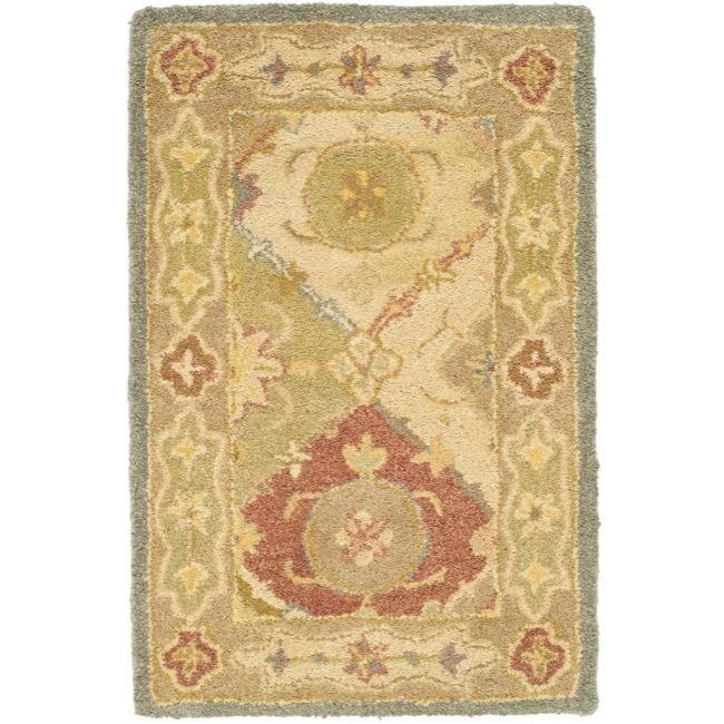 Safavieh Handmade Antiquities Bakhtieri Multi/ Beige Wool Rug (2' x 3'), Size 2' x 3' (Cotton, Border)