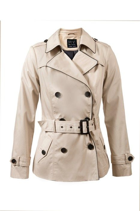 d5ce6e1e99b3 Trench court ceinture piping similicuir   Look Classe Style ...
