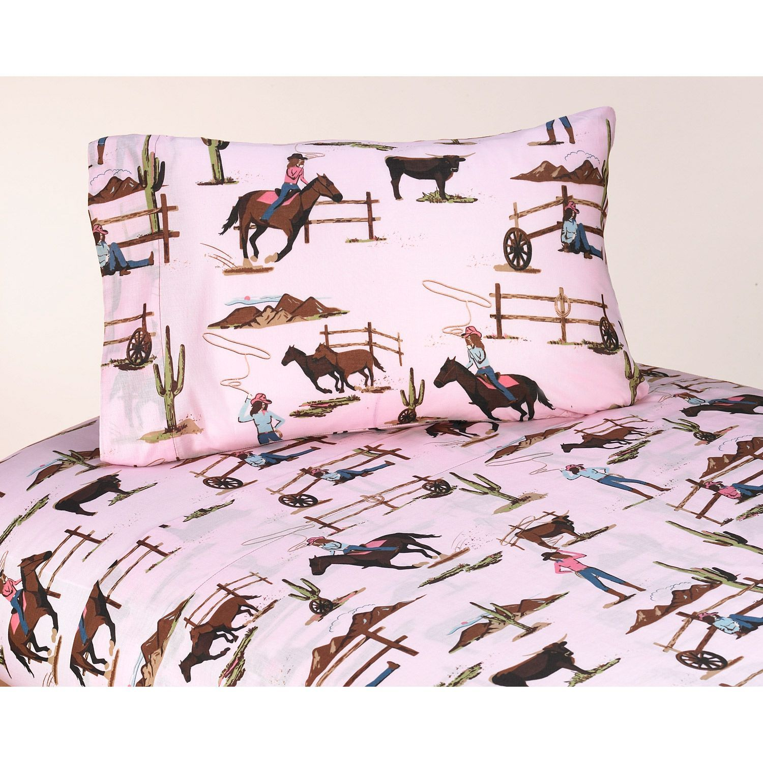show your love for equine activities with this fun cotton sheet  - show your love for equine activities with this fun cotton sheet set whichfeatures a