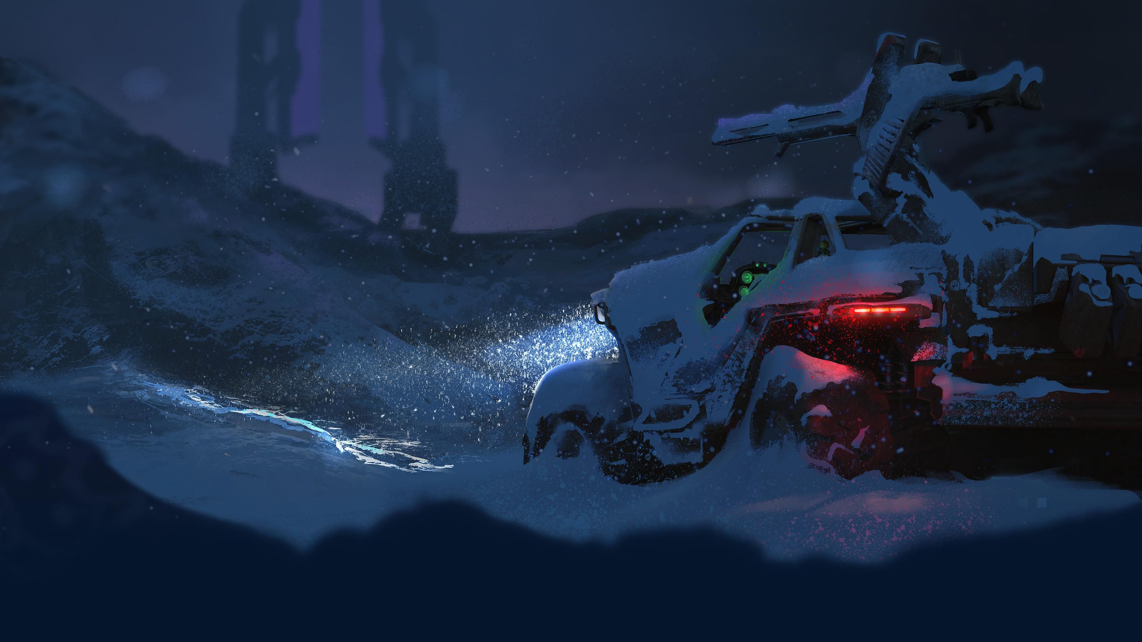 Halo Warthog In Snow 3840x2160 Halo Warthog Halo Wallpaper