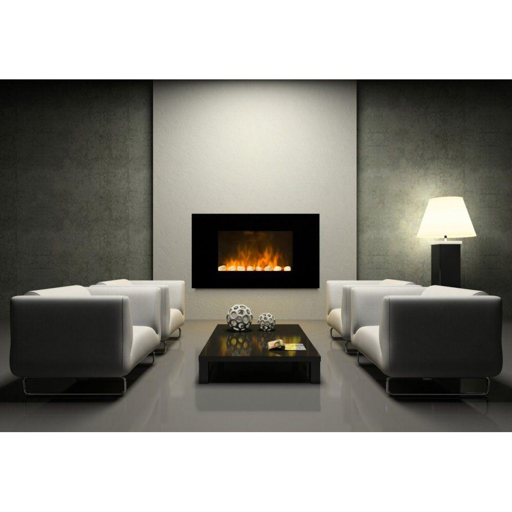 dimplex wall mounted saratoga led black optiflame landscape coal