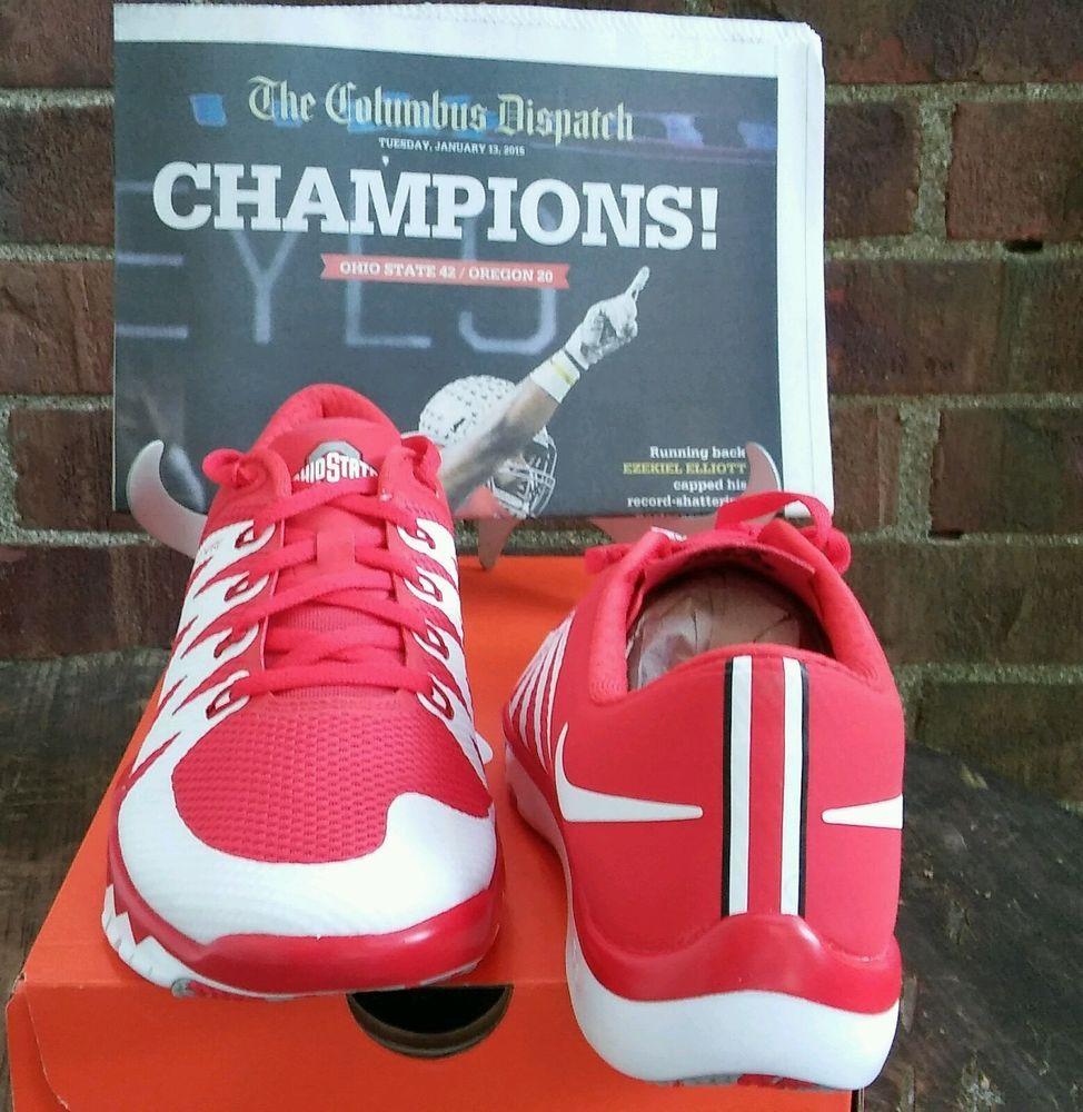 aef7be099b143 Ohio State Buckeyes Nike Free Trainer 5.0 Size 13 Plus Championship  Newspaper  Nike  RunningCrossTraining
