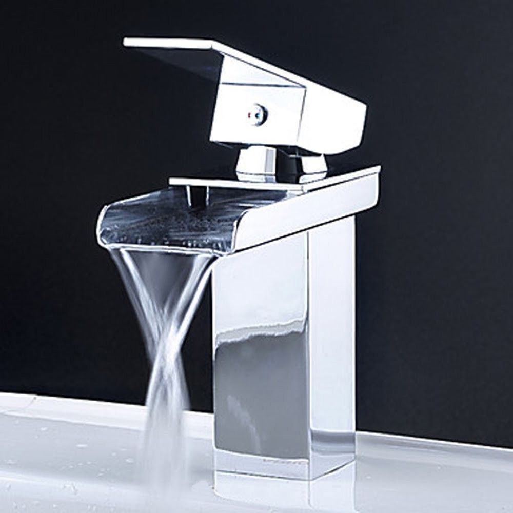 Single Hole Waterfall Bathroom Sink Faucet | Products | Pinterest ...