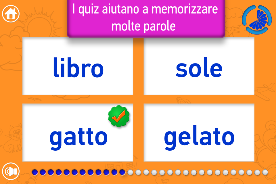 Le Mie Parole app good and simple practice for kids to