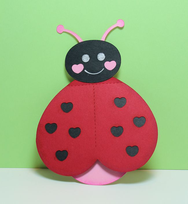 Preschool Crafts for Kids Valentines Day Ladybug Heart Card