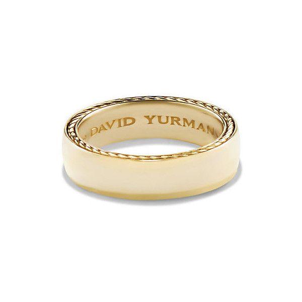David Yurman Streamline Band Ring In 18k Gold 6mm Mens Gold Wedding Band Mens Gold Rings David Yurman Mens Wedding Bands