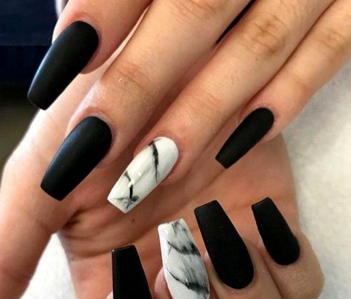 60 Best Stunning Marble Coffin Nails Inspirational Ideas You Must Try Page 38 Of 70 With Images Black Acrylic Nails Marble Acrylic Nails Coffin Nails Designs