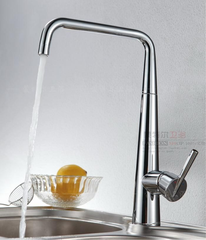 new arrival Copper shiny rotating faucet beightening hot and cold kitchen sink kitchen 6035a  free shipping