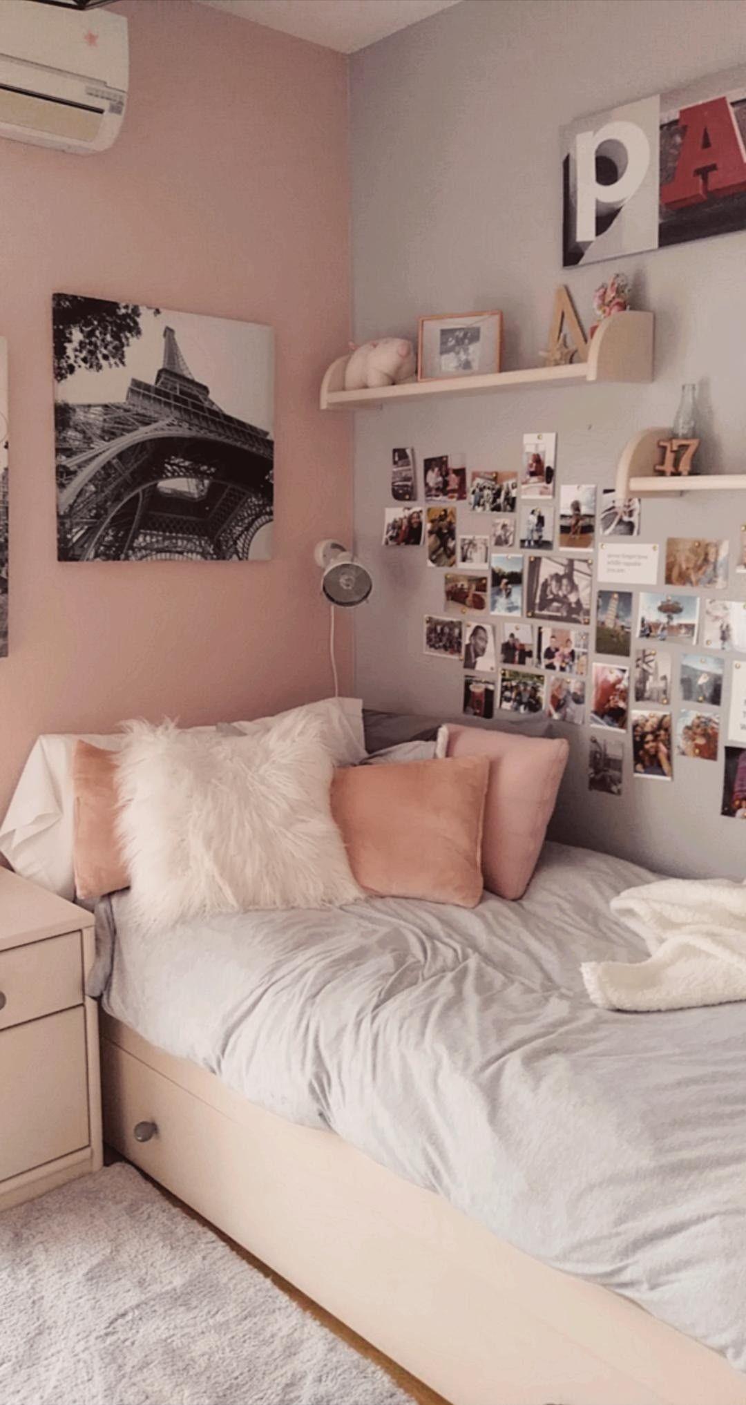 Cute Pink And Grey Bedroom In 2020 Pink Bedroom Decor Pink Bedroom Walls Redecorate Bedroom