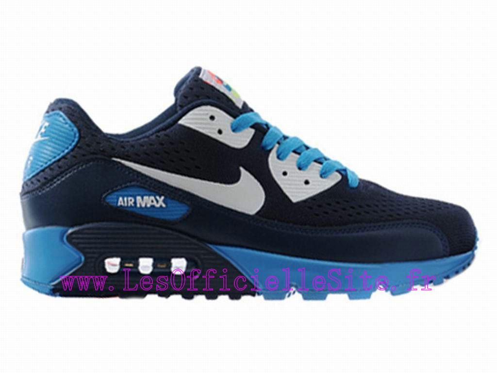 Boutique Nike Air Max 90 Chaussures Pour Homme Midnight Bleu/Noir-Blanc-Bleu