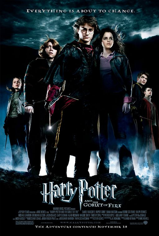 Harry Potter And The Goblet Of Fire Theatrical Poster Cinema Series Tv