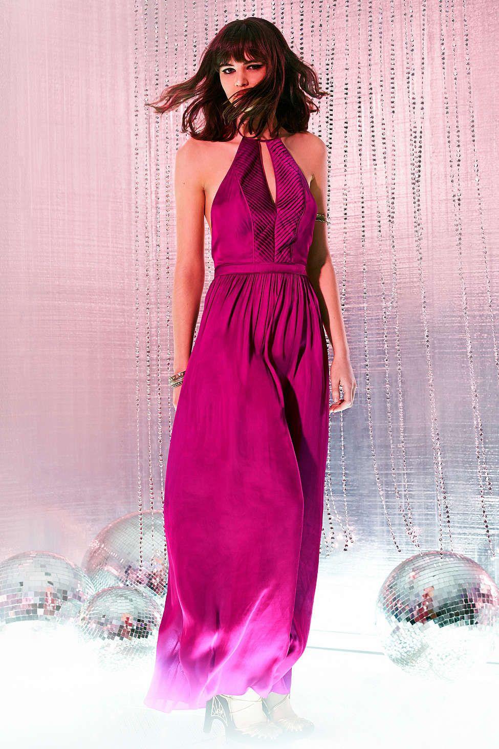 Kimchi Blue Satin Salma Halter Maxi Dress | My Style | Pinterest ...