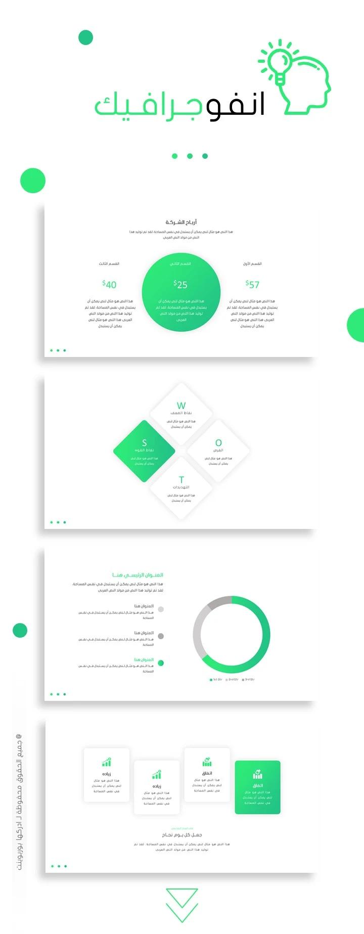 تبسيط أفضل عرض بوربوينت عربي مفرغ لعمل برزنتيشن ادركها بوربوينت Infographic Template Powerpoint Powerpoint Presentation Cv Template Word